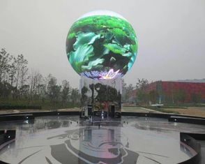 الصين Seamless Connection Spherical Led Ball Display , Commercial Global Led Display Screen المزود