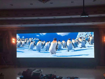 الصين Digital Hd Video Indoor Full Color LED Display Screen 256 * 128mm Module Clear Vivid Image المزود