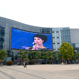 الصين Giant And Curved Square Led Display , Super Slim Flexible Led Video Screen مصنع