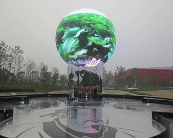 Seamless Connection Spherical Led Ball Display , Commercial Global Led Display Screen