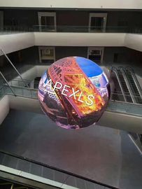 الصين Creative Full Color Curved LED Display / Spherical Led Screen For Advertising مصنع